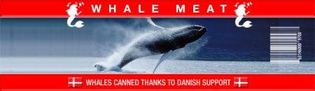Rótulo de carne de baleia
